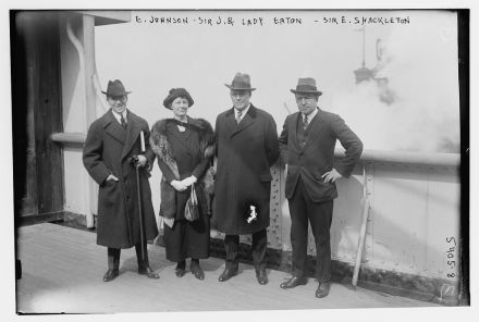 Sir Ernest Shackleton and Sir John and Lady Eaton