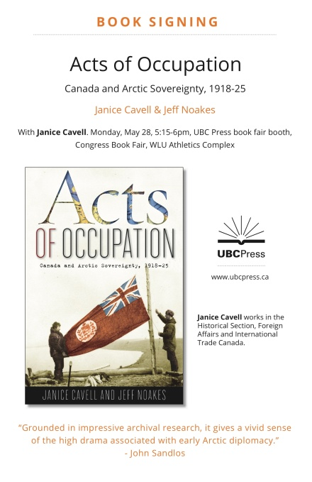 Acts of Occupation book signing poster