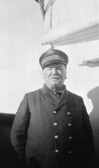 Captain Joseph Bernier aboard C.G.S. Arctic, 1923.