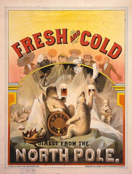 Fresh and cold--Lager beer direct from the North Pole